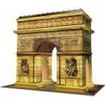 Ravensburger-12522 Puzzle 3D avec LED - Arc de Triomphe