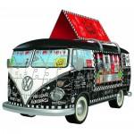 Ravensburger-12525 Puzzle 3D - Volkswagen T1 - Food Truck
