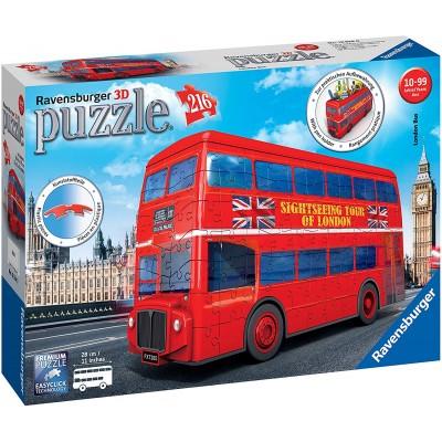Ravensburger-12534 Puzzle 3D - London Bus