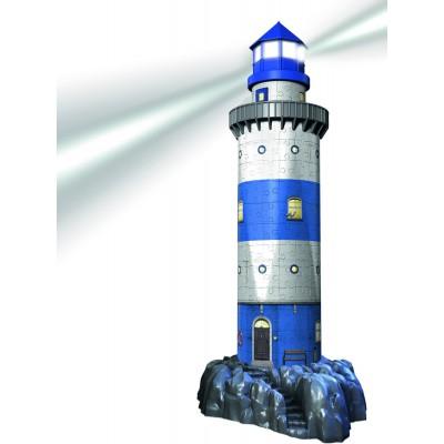 Ravensburger-12577 Puzzle 3D avec Led - Phare de Nuit