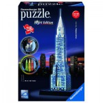 Ravensburger-12595 Puzzle 3D avec Led - Chrysler Building