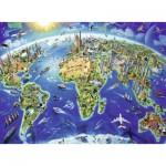 Ravensburger-12722 Pièces XXL - Carte du Monde