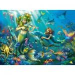 Ravensburger-12872 Pièces XXL avec des Paillettes - Disney Princess