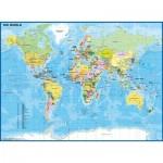 Ravensburger-12890 Pièces XXL - Carte du Monde Enfant
