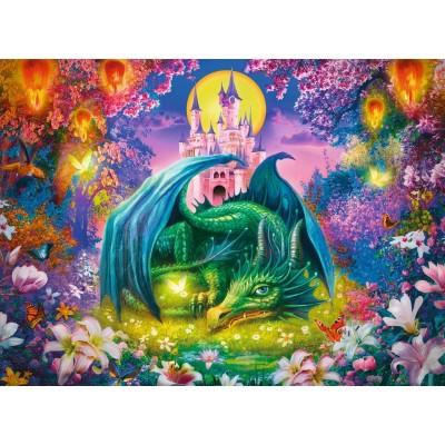 Ravensburger-13258 Pièces XXL - Forêt Enchantée du Dragon