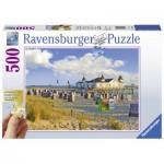 Ravensburger-13652 Puzzle XXL - Chaises de Plage à Ahlbeck