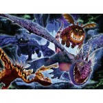 Ravensburger-13710 Color Star Line - Pièces XXL - Dragon