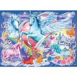 Ravensburger-13928 Puzzle 100 pièces XXL - Au pays des fées