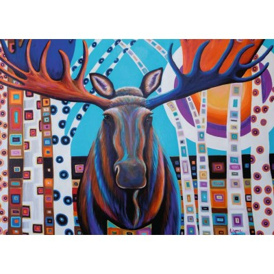 Ravensburger-13979 Winter Moose
