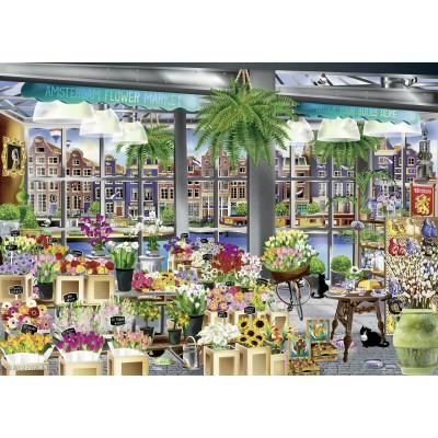 Ravensburger-13987 Amsterdam Flower Market