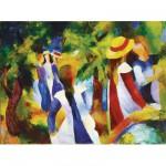 Ravensburger-14024 Macke : Jeunes filles sous les arbres