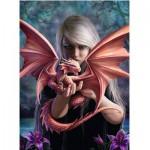Ravensburger-14643 Anne Stokes: La Femme Dragon