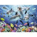 Ravensburger-14710 Dauphins dans la Barrière de Corail