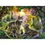 Ravensburger-14745 Famille de Loups