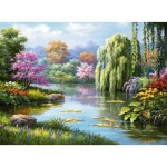 Ravensburger-14827 Romance à l'étang