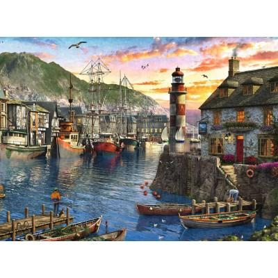 Ravensburger-15045 Lever du Soleil au Port