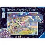 Ravensburger-15046 Puzzle Brillant - Licorne Papillon