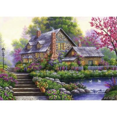 Ravensburger-15184 Cottage Romantique