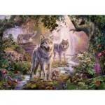 Ravensburger-15185 Famille de Loup en Ete