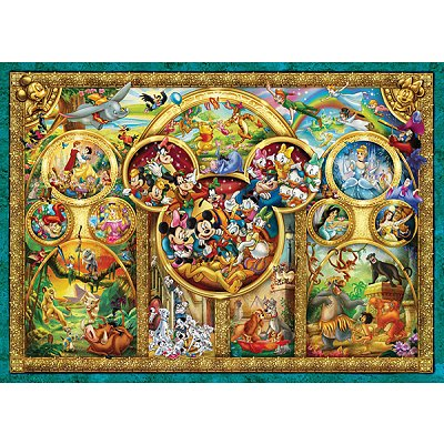 Ravensburger-15266 Le Monde Magique de Disney en Médaillon
