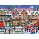 Ravensburger-15291 Christmas in the Square