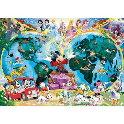 Ravensburger-15785 Mappemonde : Le Monde de Disney