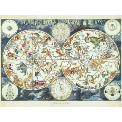 Ravensburger-16003 Mappemonde des Animaux Fantastiques