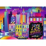 Ravensburger-16454 Live Life Colorfully, NYC