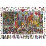 Ravensburger-19069 James Rizzi - Times Square : Tout le monde devrait y aller