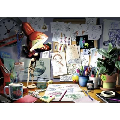 Ravensburger-19432 Disney Pixar - The Artist's Desk