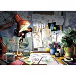 Ravensburger-19432 Disney Pixar - The Artist's Desk
