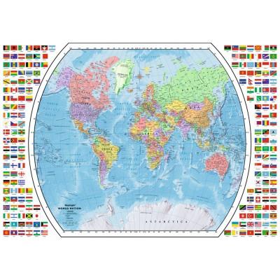 Ravensburger-19633 Carte du Monde Politique