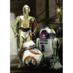 Ravensburger-19779 Star Wars - C-3PO, R2-D2 & BB-8