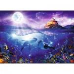 Ravensburger-19791 Baleines au Clair de Lune