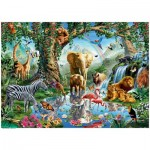 Ravensburger-19837 Aventures dans la Jungle