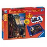 Ravensburger-19912 Paris, Puzzle 1000 Pièces + Tapis de Puzzle