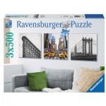 Ravensburger-19923 3 Puzzles - New York City