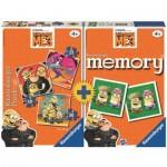 Ravensburger-21309 3 Puzzles + Memory - Minions