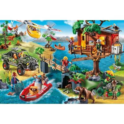 Schmidt-Spiele-56164 Playmobil, La Maison dans l'Arbre, avec une Figurine