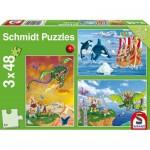 Schmidt-Spiele-56224 3 Puzzles - Vikings
