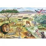 Schmidt-Spiele-56292 Tiere in Ostafrika (en Allemand)