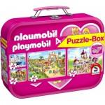 Schmidt-Spiele-56498 4 Puzzles - Playmobil