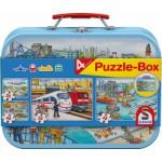 Schmidt-Spiele-56508 4 Puzzles - Coffret Moyens de Transport