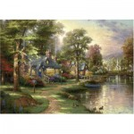 Schmidt-Spiele-57452 Thomas Kinkade: Au Bord du Lac