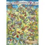 Schmidt-Spiele-58330 Carte Illustrée de l'Allemagne