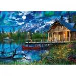 Schmidt-Spiele-58365 Lac de Montagne au Clair de Lune