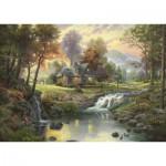 Schmidt-Spiele-58445 Thomas Kinkade : Chalet sur le ruisseau
