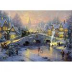 Schmidt-Spiele-58450 Thomas Kinkade : Village en hiver