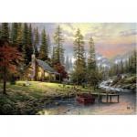 Schmidt-Spiele-58455 Thomas Kinkade : Maison de montagne