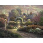 Schmidt-Spiele-59466 Kinkade Thomas : Cottage dans le Jardin de Roses
